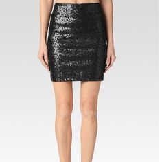 Paige Denim Lolita Pencil Skirt This Holiday's Perfect Party Skirt! Black Sequins- Back Zip Closure  I DO NOT TRADE Paige  Skirts Pencil
