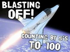 Blasting off It's a rocketship race Counting by As we fly into space! Counting by to ENJOY! Math Songs, Kindergarten Songs, Kids Songs, Counting Songs, Skip Counting, School Songs, Math School, School Videos, Math For Kids