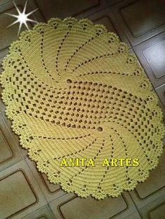 Crochet doily - Oval doilies - Home decor - White crochet doilies - Mother's Day - Handmade - Handmade tablecloth Crochet Motif Patterns, Crochet Squares, Crochet Designs, Crochet Doilies, Crochet Carpet, Crochet Home, Hand Crochet, Crochet Sunflower, Pineapple Crochet