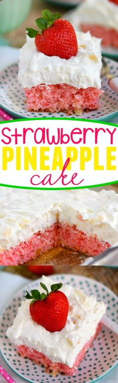 Easy Strawberry Pineapple Cake on MyRecipeMagic.com