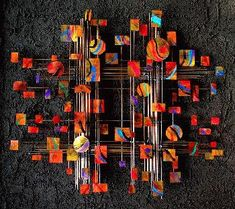 Orange Universe Wall Sculpture