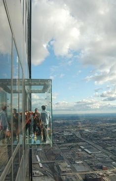 Sears Tower Glass Platform ~ Chicago, Illinois. Look down in Chicago from the Sears Tower like Ferris Bueller