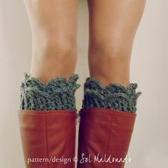 Crochet Pattern Boot Toppers PDF  Winter Accessory by bySol