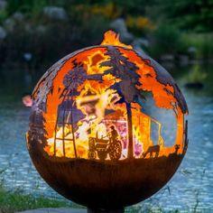 Farm Fire Pit Sphere - Appel Crisp Farms   The Fire Pit Gallery