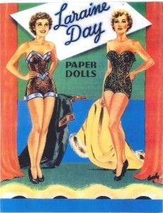 Laraine Day paper dolls   Vintage Laraine Day Paper Doll Laser Repro FREESHW2   eBay