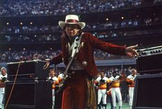 Stevie Ray Vaughan at the Astrodome, April Photo: Houston Chronicle / Houston Chronicle Jimmie Vaughan, Carl Lewis, Gary Clark Jr, Grunge, Slide Guitar, Star Spangled Banner, Stevie Ray Vaughan, Joan Jett, Blue Band