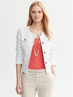 Great modern jacket perfect for layering.  Flap-Pocket Jacket | Banana Republic