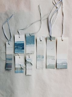 ... hand painted tags available from The Linen Garden department store.
