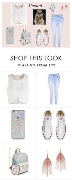 """""""Casual"""" by harrietspakman202 ❤ liked on Polyvore featuring Glamorous, Converse, Red Camel, Serefina and casual"""