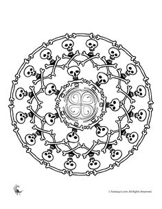 Skull mandala coloring pages am selling pdf downloads in for Selling coloring pages on etsy