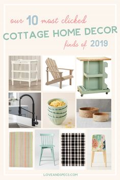 Our 10 Most Popular Cottage Style Home Decor Finds of 2019 Furniture Makeover, Cool Furniture, Wood Adirondack Chairs, Nook Table, Cottage Style Homes, Contemporary Home Decor, Cool Rooms, Inspired Homes, Home Decor Items