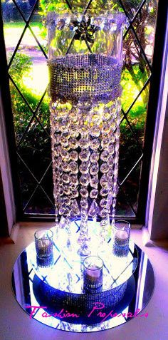 Bling Wedding centerpiece Candelabra Candle by FashionProposals, $69.00