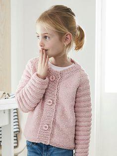 Få en strikkeopskrift på en fin pigetrøje med knapper her Knitting For Kids, Knitting Projects, Baby Knitting, Stitch Patterns, Knitting Patterns, Kids Patterns, Dress For Success, Baby Sweaters, Kids Cards