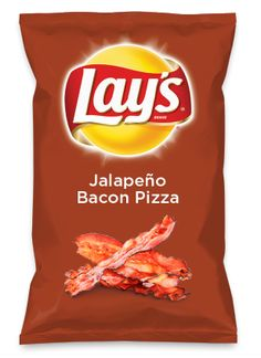 Wouldn't Jalapeño Bacon Pizza be yummy as a chip? Lay's Do Us A Flavor is back, and the search is on for the yummiest flavor idea. Create a flavor, choose a chip and you could win $1 million! https://www.dousaflavor.com See Rules.