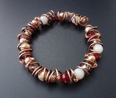 tute: How to Coil and Wire Wrap an Easy Bangle Tutorial - The Beading Gem's Journal