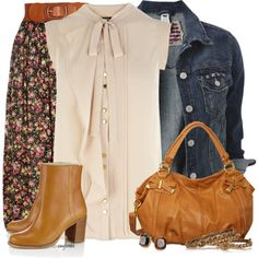 Blouse/Denim Floral Contests, created by amybwebb on Polyvore