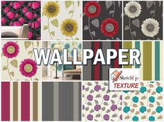 WALLPAPER SEAMLESS TEXTURE COLLECTION http://www.sketchuptexture.com/p/fabrics-and-wallpaper.html