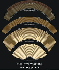 Caesars palace a seating guide for the premier las vegas venue