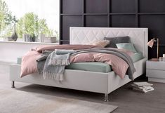 ATLANTIC home collection Polsterbett »Johanna«, mit Lattenrost und Bettkasten online kaufen   OTTO Atlantic Home Collection, New Room, Home Collections, Furniture, Home Decor, Products, Bed Mattress, Rooms With Slanted Ceilings, Bed Frame