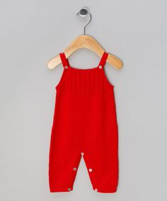 Red Tricot Dungarees - Infant by Miskiwawa