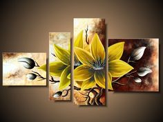 Canvas art acrylic paint products 40 new Ideas Canvas Painting Tutorials, Painting Lessons, Red Wall Art, Sunflower Art, Canvas Designs, Beautiful Paintings, Watercolor Art, Canvas Art, Watercolour Paintings
