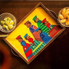 ExclusiveLane Rajasthani Puppet Art Work Hand Painted Canvas Tray - Serving Tray / Breakfast Tray / Home & Kitchen / Kitchen Ware Rajasthani Painting, Rajasthani Art, Madhubani Art, Madhubani Painting, Hand Painted Canvas, Diy Canvas Art, Indian Art Paintings, Indian Artwork, Amazing Paintings
