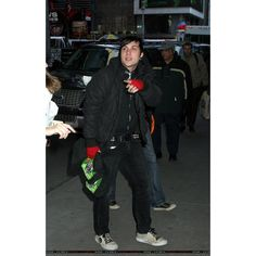 MCR PICS - Leaving MTV's TRL in NYC (24th October)/89764 ❤ liked on Polyvore featuring my chemical romance, frank iero, frank, mcr and pictures