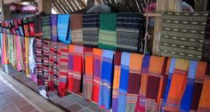 Textile for tourists in Mai Chau. North Vietnam, Hanoi, Ethnic, Textiles, Travel, Trips, Viajes, Traveling, Textile Art