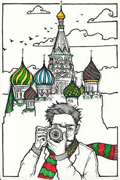 Храм Василия Блаженного, Москва by Зелёная лампочка