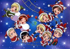 hetalia | Hetalia hetalia christmas.... Let the holiday pins begin!! :D