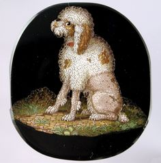 Micromosaic | 10 micromosaic of a poodle micro mosaic micromosaic of a
