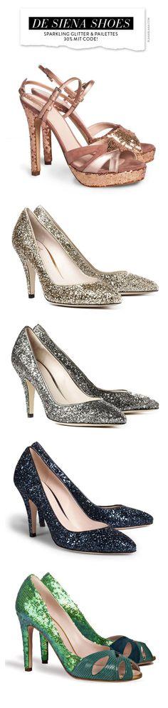 ~De Siena Shoes – Sparkling Glitter & Pailettes | House of Beccaria