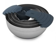 The Joseph Joseph Nest 100 is a set of kitchen tools that stack together for easy storage. http://cnet.co/15DEpOT