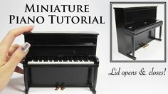 How to build a miniature upright piano using some wood and polymer clay. This is such a beautiful miniature that you can build.