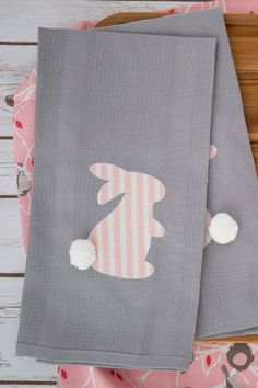 DIY Easter Kitchen Linens:  Give your napkins, dish towels, or table cloth a touch of Easter spirit with this iron-on little animal.