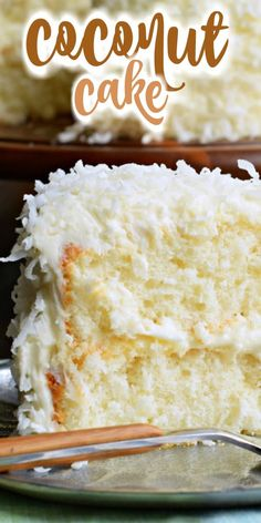 cheesecake recipes The most delicious, from scratch, white cake recipe is used to create this perfect Coconut Cake! Creamy frosting with more coconut to top it off. Coconut Cake Easy, Coconut Desserts, Just Desserts, Delicious Desserts, Dessert Recipes, Coconut Cakes, White Cake Recipes, Coconut Cake Frosting, Lemon Cakes