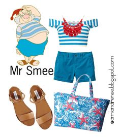 """Mr Smee"" by samiandrenee on Polyvore featuring Miss Selfridge, Banana Republic, Lilly Pulitzer, Steve Madden, Alexa Starr and disney"