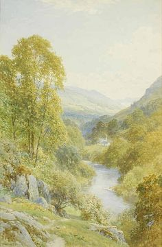 "Harry Sutton Palmer R.I., R.B.A. (1854-1933) ""Flowing to Windermere"" Signed…"