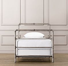 Industrial Steel Pipe Bed | All Beds | Restoration Hardware Baby & Child