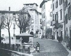 Ecco piazza Mercato del Fieno Come era - StoryLab Bergamo