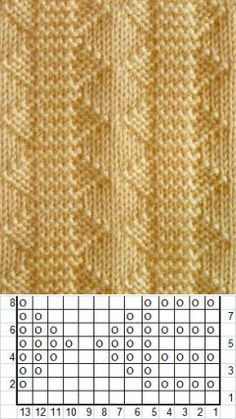 Knitting Patterns Techniques The lessons of knitting with knitting needles are simple. How to knit a pattern . Knitting Paterns, Knitting Charts, Easy Knitting, Loom Knitting, Knitting Designs, Knitting Needles, Knit Patterns, Crochet Stitches, Knitting Machine