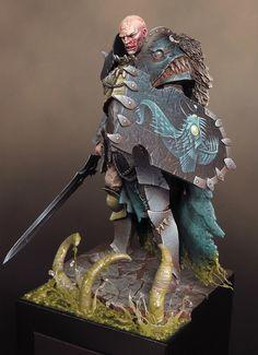 "The Abyssal Warlord by David Soper ""Sproket"" · Putty&Paint Warhammer 40k, Warhammer Fantasy, Fantasy Figures, Fantasy Art, Fantasy Battle, Fantasy Miniatures, 3d Prints, Mini Paintings, Medieval Art"