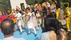 Surprise Flashmob For Bride & Groom A surprise group dance performed by friends and cousins of the bride and groom Indian Wedding Songs, Indian Wedding Decorations, Desi Wedding, Wedding Bride, Wedding Shot, Reception Decorations, Bride Groom, Group Dance, Fun Group
