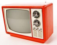 #orange television set #vintage