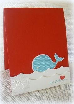 Stampin' Up! CAS Card by Penny Smiley at Stampsnsmiles: Get Whale Soon! Oh, Whale! Kids Cards, Baby Cards, Get Well Cards, Animal Cards, Baby Kind, Card Maker, Cool Cards, Scrapbook Cards, Homemade Cards