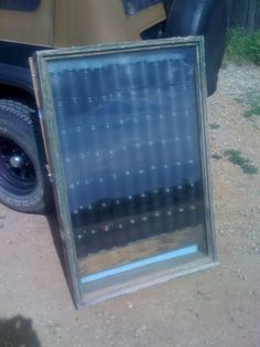 soda can solar panel heater