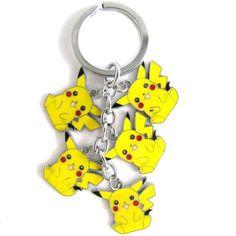 Cute Pikachu Pokemon Keychain
