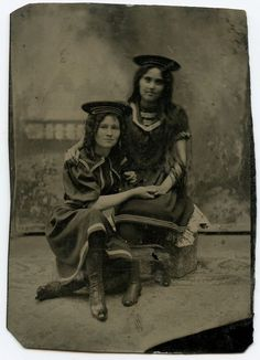 Young Girls in Swimsuits, Victorian Swimsuits Fashion, Vintage Tintype Photo     eBay