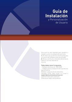 """Diseño editorial y gráfico """"Guía de instalación y personalización de usuario"""""""