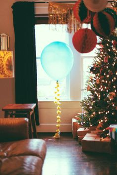 Helium balloons and decorating for a holiday!